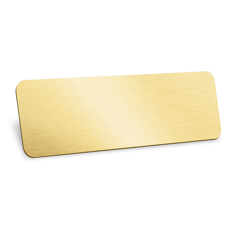 ID Badge with Magnets 70x40mm in Gold Finish
